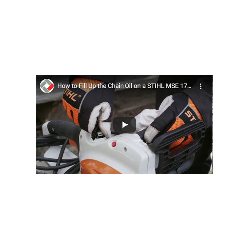 How to mount and tension a bar and chain on a Stihl MSE170 C-BQ chainsaw