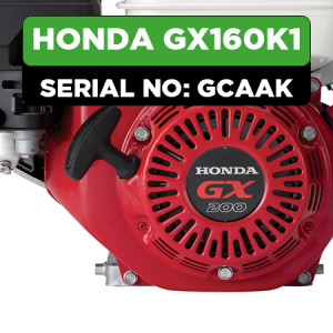 Honda GX160K1 (GCAAK) Engine Parts