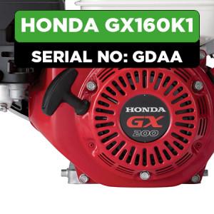 Honda GX160K1 (GDAA) Engine Parts
