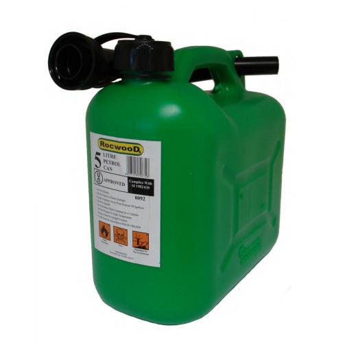 Green Plastic Fuel Container 5 Litre