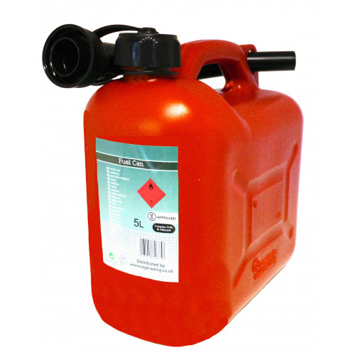 Red Plastic Fuel Container 5 Litre