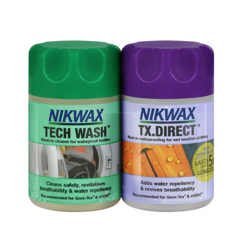 AT018 Nikwax Cleaning & W/proofing Pack - Single Dose