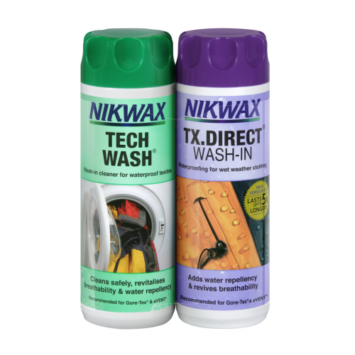 AT019 Nikwax Cleaning & W/proofing Pack - 300ml