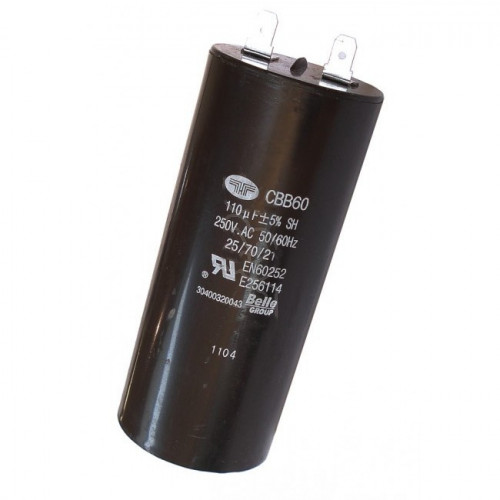 Belle Capacitor 110uf - 110V for Minimix 150 Cement Mixer  - 700136
