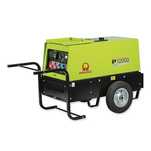 PRAMAC P12000 400V Diesel Silenced Generator CONN/Wheel Kit 12.6/4KVA (Hatz 2G40)