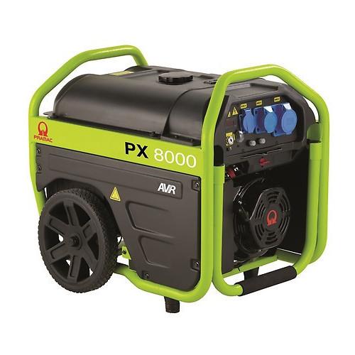 PRAMAC PX8000 AVR Petrol Generator 6/5KVA c/w Wheels and Handles (Pramac E/Start)