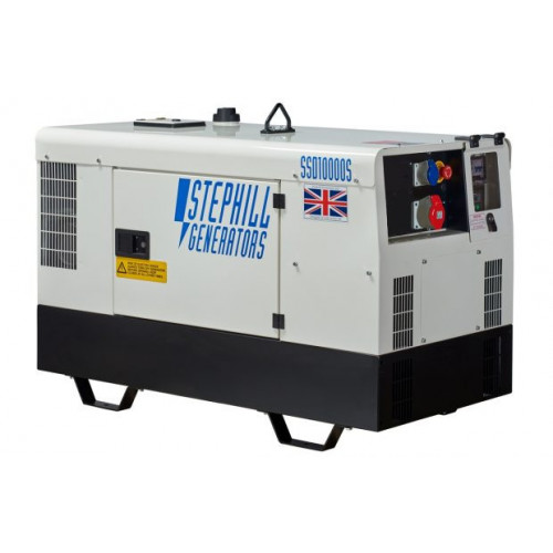STEPHILL SSD10000S 10 kVA Super Silent Diesel Generator - Excludes Trolley