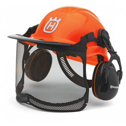 HUSQVARNA Chainsaw Helmet Functional Forest Florescent Orange