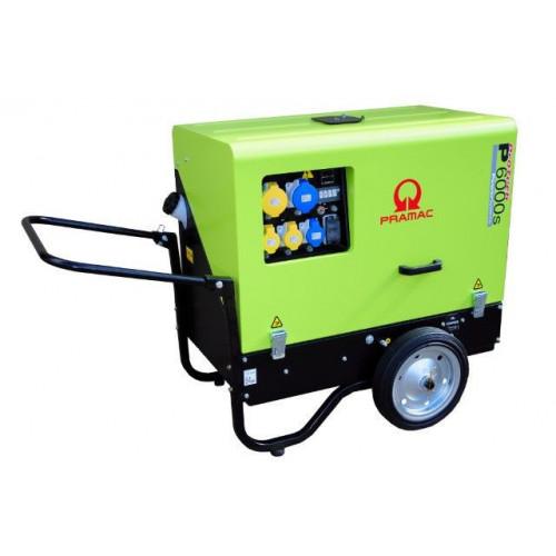 PRAMAC P6000S Super Silent Diesel Generator c/w Wheel Kit 5.9/4.9KVA (L100)