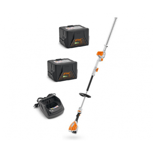 STIHL HLA 56 Cordless 135° Adjustable Long Reach Hedge Trimmer - Two Battery Package