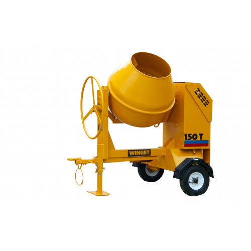WINGET 150T FT Diesel Electric Start 150 Litre Fast Tow Cement Mixer