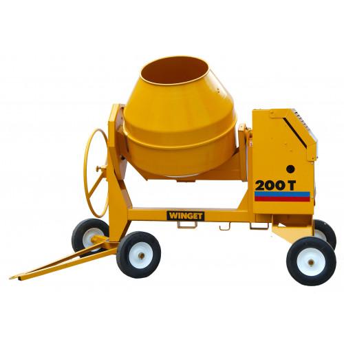 WINGET 200T Diesel Electric Start 200 Litre Cement Mixer